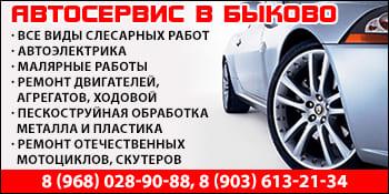 Автосервис в Быково Подольск